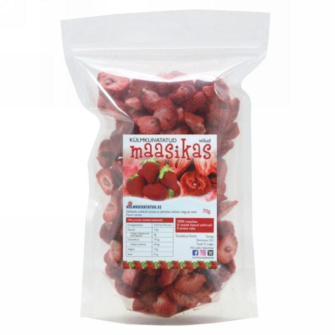 külmkuivatatud maasikas, viilud 70g - maasikad, maasika viilud