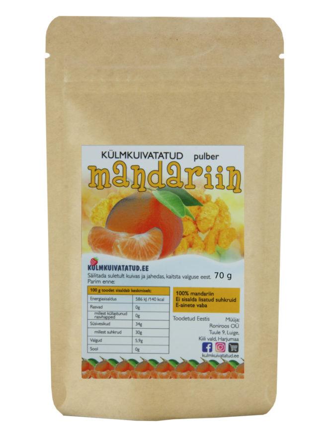 mandariinipulber 70g