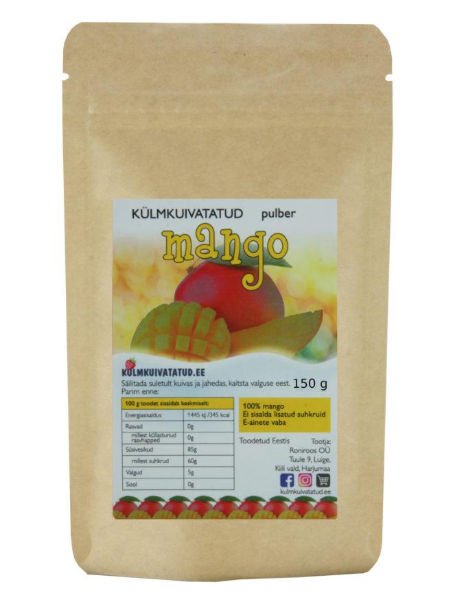 külmkuivatatud mango pulber 150g